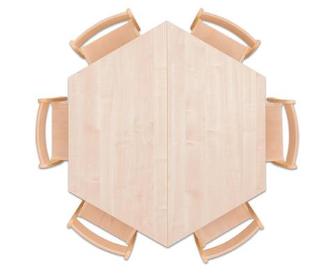 Moebel-Set Trapo Sitzhoehe 26 cm Tischhoehe 46 cm Ahorn-2