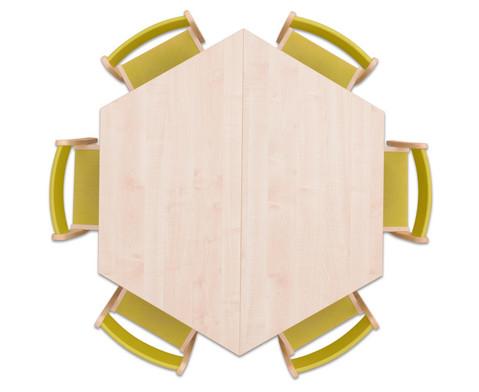 Moebel-Set Trapo Sitzhoehe 26 cm Tischhoehe 46 cm Ahorn-6