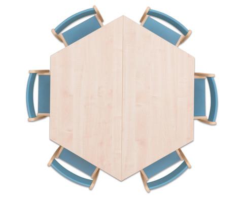 Moebel-Set Trapo Sitzhoehe 34 cm Tischhoehe 58 cm Ahorn-6