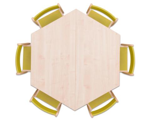 Moebel-Set Trapo Sitzhoehe 34 cm Tischhoehe 58 cm Ahorn-8
