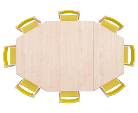 Moebel-Set Batur Sitzhoehe 30 cm Tischhoehe 52 cm Ahorn-6