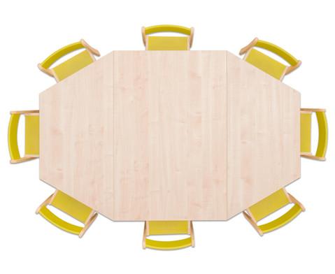 Moebel-Set Batur Sitzhoehe 42 cm Tischhoehe 70 cm Ahorn-8