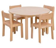 Möbel-Set Rondino Sitzhöhe 30 cm, Tischhöhe 52 cm