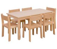 Möbel-Set Orthino Sitzhöhe 34 cm, Tischhöhe 58 cm