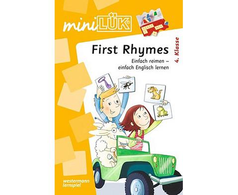 miniLUEK First Rhymes - Einfach reimen einfach Englisch lernen
