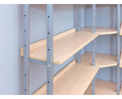einseitiges wandregal 1 m anbauteil mit 5 b den. Black Bedroom Furniture Sets. Home Design Ideas