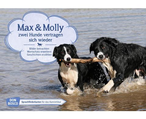 Bildkarten Max und Molly  zwei Hunde vertragen sich wieder