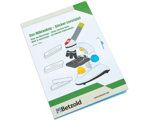 Betzold Stickerlernspiel Das Mikroskop