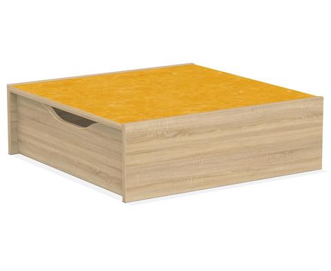 Podest - Quadrat mit Rollkasten 75 x 75 cm