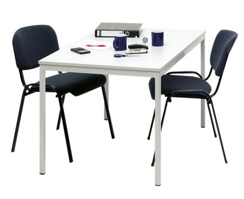 Stahlrohrtisch quadratische Tischbeine 140 x 70 cm