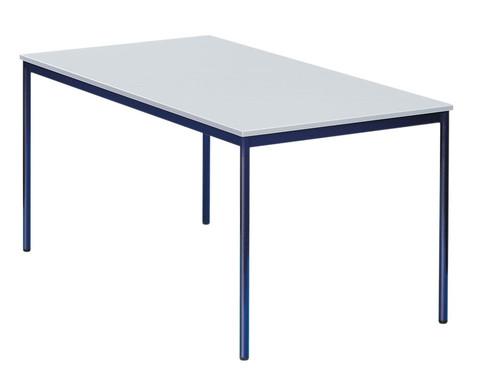 Stahlrohrtisch runde Tischbeine 80 x 80 cm