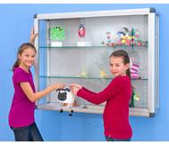 Aluvitrine Modell (Breite:100 cm) Türen: Sicherheitsglas; Seiten: Acrylglas