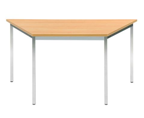 Vielzweck-Trapez-Tisch 140 x 70 x 70 mit runden Tischbeinen