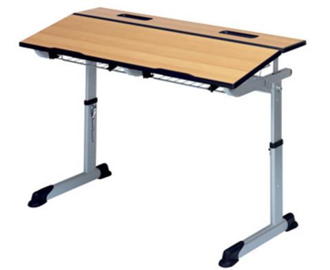 Aluflex-Zweier-Tisch DIN-ISO Groessen 345