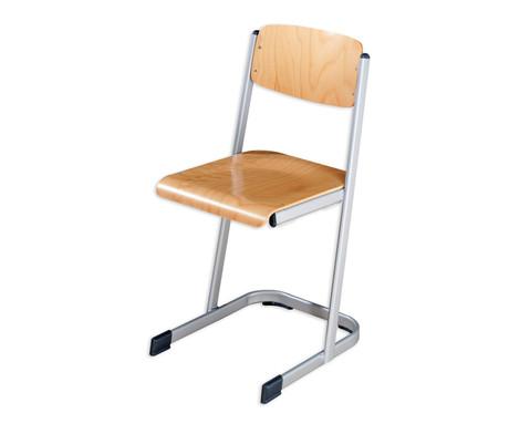Schuelerstuhl hoehenverstellbar 34 - 42 cm mit geschlossenem Sitztraeger