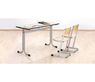 Zweier-Tisch, Tischhöhe: 70 cm