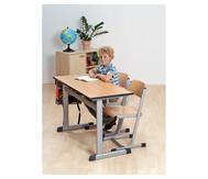 L-Fuß Zweier-Tisch, Tischhöhe: 58 cm