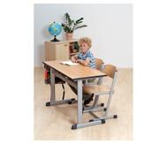 L-Fuß Zweier-Tisch, Tischhöhe: 76 cm