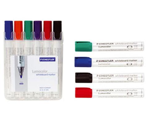 Staedtler Abwischbare Tafelschreiber 6 Farben im Etui