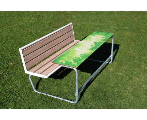 Betzold Einzeltisch gruenes Klassenzimmer Sitzflaechen mit Holzeinsatz