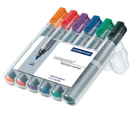 Flipchart-Marker 6 Farben im Etui-1