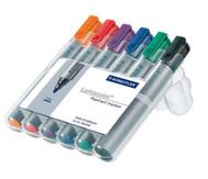 Flipchart-Marker, 6 Farben im Etui