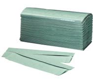 Einweg-Papierhandtücher, grün (250 Stück)