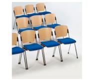 Stapelstuhl mit Sitzpolster, Gestell: chrom