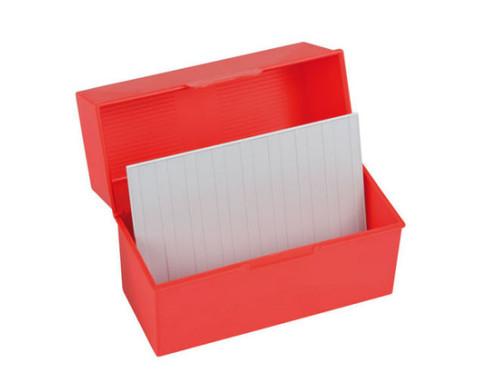 Karteiboxen DIN A5 in Rot oder Blau-4