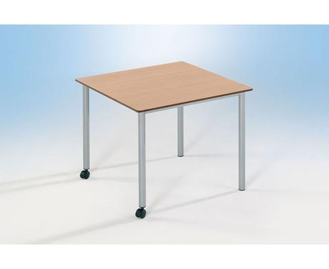 Varimax Quadrat-Tisch fahrbar hoehenverstellbar von 58-72 cm