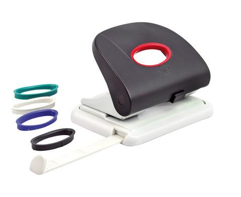 Locher mit 5 verschiedenfarbigen Ringen