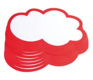 Moderationswolken, 20 Stück, 25 x 45 cm, weiß/rot