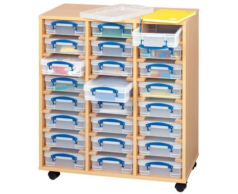 Fahrbares Regalsystem mit 24 Boxen-1