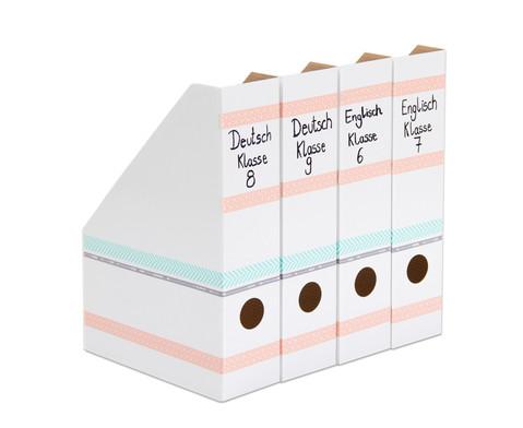 Stehsammler weiss 4 Stueck im Set aus Karton