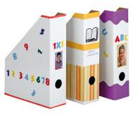 Stehsammler weiß aus Karton, 4 Stück