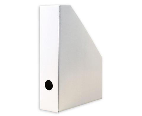 Stehsammler weiss aus Karton 4 Stueck-4