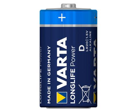 VARTA Longlife Power Mono 15 Volt 2 Stueck