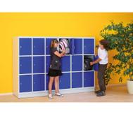 Schüler-Schließfach-Schrank mit 9 Fächern