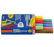 1 Faltschachtel mit 10 Robercolor-Kreiden, rund, farbig sortiert