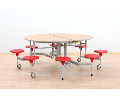 8er-Tisch-Sitz-Kombination oval Sitzhoehe 345 cm