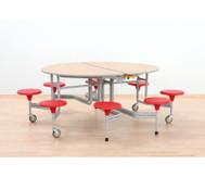 8er-Tisch-Sitz-Kombination oval, Sitzhöhe 34 cm