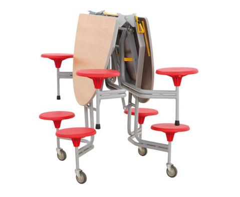 8er-Tisch-Sitz-Kombination oval Sitzhoehe 385 cm-3