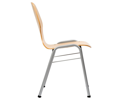 Schalenstuhl Work mit Sitzschale in Buche Natur-1