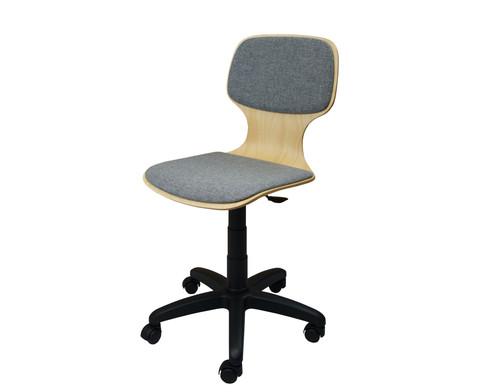 Fachraumstuhl fahrbar mit Sitz- und Ruecken-Polster-1