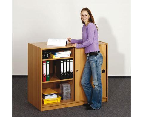 schmales sideboard mit mittelwand 4 b den hxbxt. Black Bedroom Furniture Sets. Home Design Ideas