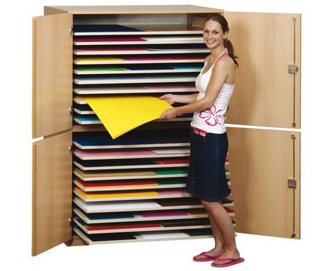 Papersafe Modell D mit 20 Auszuegen fuer Formate bis 125 x 90 cm