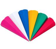 Wellpappe 3D-Schultüten, 20 Stück, in 5 Farben