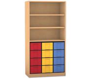 Flexeo Regal, 3 Fächer, 12 große Boxen HxB: 190 x 94,4 cm