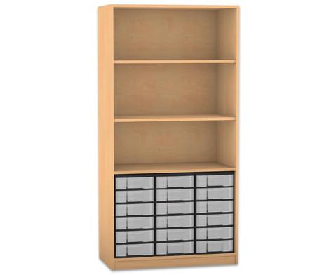 Flexeo Regal 3 Faecher 18 kleine Boxen HxB 190 x 944 cm