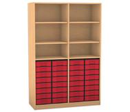 Flexeo Regal, 6 Fächer, 32 kleine Boxen HxB: 190 x 126,4 cm